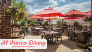 outdoor dining in Oldham County